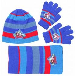 Niebiesko-czerwony zestaw: szalik, rękawiczki, czapka AVENGERS