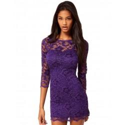 ASOS koronkowa, fioletowa sukienka