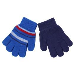 2x niebieskie rękawiczki w paski PRIMARK