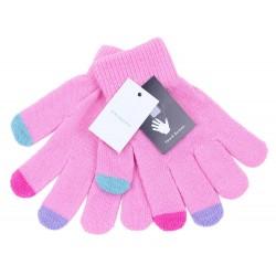 Różowe rękawiczki do ekranów dotykowych PRIMARK
