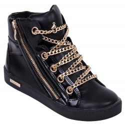 Czarne, sportowe sneakersy VICES