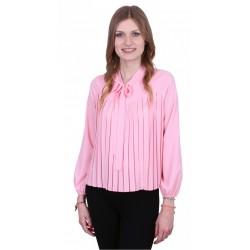 ASOS Elegancka różowa bluzka z kokardą