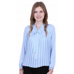 ASOS Elegancka niebieska bluzka z kokardą