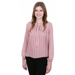 ASOS Elegancka beżowa bluzka z kokardą