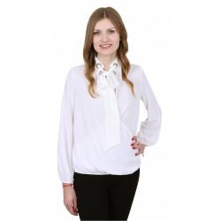 ASOS Elegancka ecru bluzka z kokardą