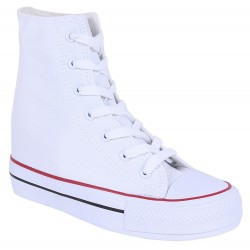Białe sneakersy trampki na koturnach VICES