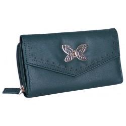 Elegancki zielony portfel - złoty motyl PRIMARK ATMOSPHERE