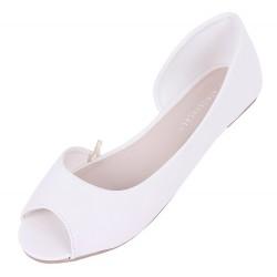 White pumps peep toe