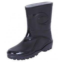 Ladies, Youth, Girls, PVC, Wellies, Wellington, Rain Boots YOUNG 2 BLACK DEMAR