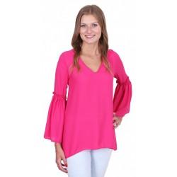 ASOS Elegancka, różowa bluzka, rękawy dzwony