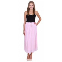 ASOS Różowa, rozkloszowana spódnica maxi