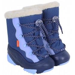 Niebieskie, ocieplane kozaczki SNOW MAR DEMAR