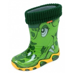Toughees Shoes Kids Warm Fleece-sock Croc Wellies Wellingtons Boot
