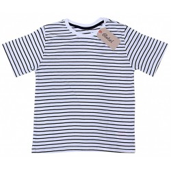 Czarno-biały t-shirt w paski PRIMARK