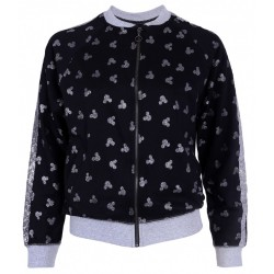 Black, Sweatshirt With Zipper For Ladies Mickey Mouse DISNEY