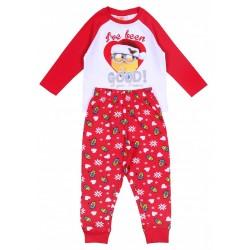 Czerwona, świąteczna piżama MINIONKI