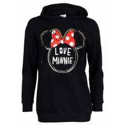 DISNEY Minnie Mouse Girls Womens Classic Hoodie Sweatshirt, Jacket, Top
