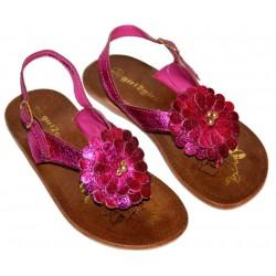 Różowe błyszczące sandałki girl2girl PRIMARK