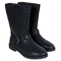 Black Eco-leather Boots