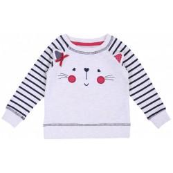 Beżowa bluza - kotek PRIMARK