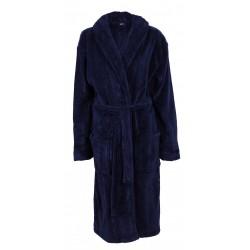 Cedar Wood State, Navy Blue Men's Fleece, Hooded Dressing Gown, Robe, Nightwear