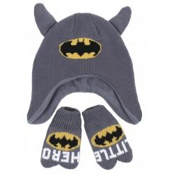 Komplet: czapka + rękawiczki BATMAN