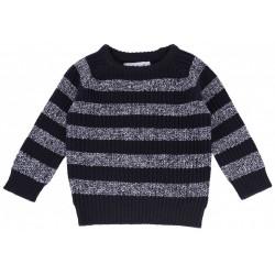 Granatowy sweterek w paski PRIMARK