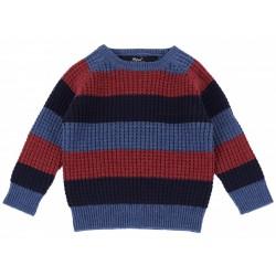 Niebiesko-bordowy sweterek PRIMARK