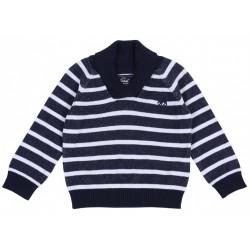 Granatowo-biały sweterek PRIMARK