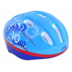 Niebieski kask rowerowy EVO
