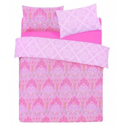 Pink King Size Duvet Cover & Two Pillowcases Set 230x220 PRIMARK