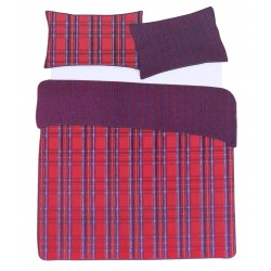 Red Checked King Size Duvet Cover & Two Pillowcases Set 230x220 PRIMARK