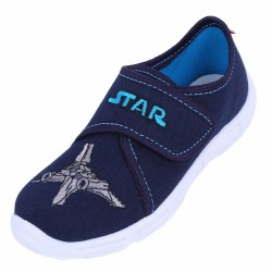 Boys Navy Blue/Grey Spaceship Shoes, Slippers, Sneakers LEMIGO