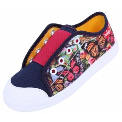 Girls Navy Blue/Butterflies, Shoes, Slippers, Sneakers LEMIGO