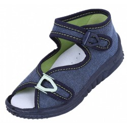 Boys Navy Blue/Blue Shoes, Slippers, Sandals LEMIGO