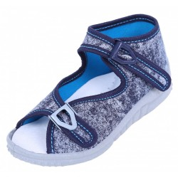 Boys Navy Blue Marble Shoes, Slippers, Sandals LEMIGO