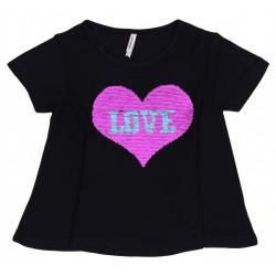 Magiczna bluzka cekiny - serce YD PRIMARK
