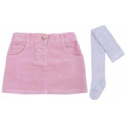 Różowa spódniczka + szare rajstopki YD PRIMARK