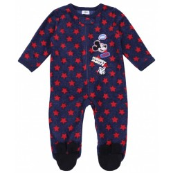 Navy Blue, Footed, All In One Piece Pyjama, Onesie For Boys Mickey Mouse Disney
