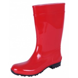 Ladies, Red, PVC, Wellies, Wellington, Rain Boots ILSE LEMIGO