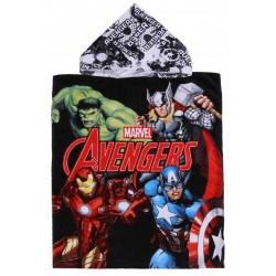 Black, Hooded Poncho Towel AVENGERS MARVEL COMICS