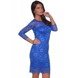 ASOS koronkowa, kobaltowa sukienka