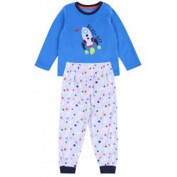 Blue Top & Grey Bottoms Pyjama Set For Baby Boys Rocket Design