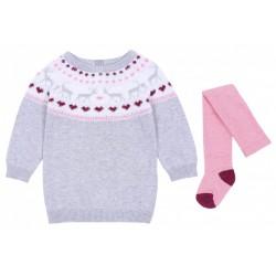 Szary sweterek+rajstopy PRIMARK