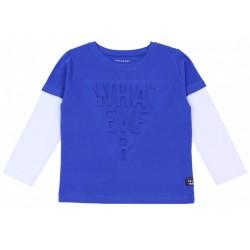 Niebieska bluza z białymi rękawami PRIMARK