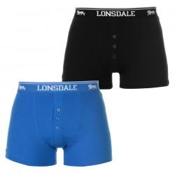 Niebieskie i czarne, męskie bokserki LONSDALE LONDON