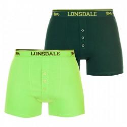 Zielone i limonkowe bokserki LONSDALE LONDON