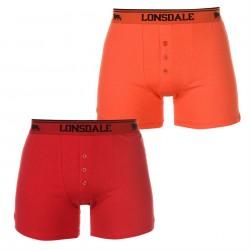 Czerwone i pomarańczowe bokserki LONSDALE LONDON