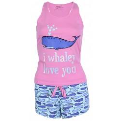 Różowa piżama w wieloryby PRIMARK ATMOSPHERE