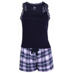Granatowa piżama w kratkę.PRIMARK ATMOSPHERE